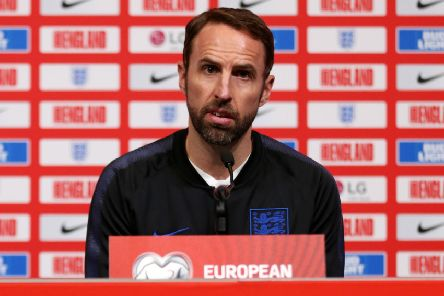 Pride of Three Lions: England manager Gareth Southgate.