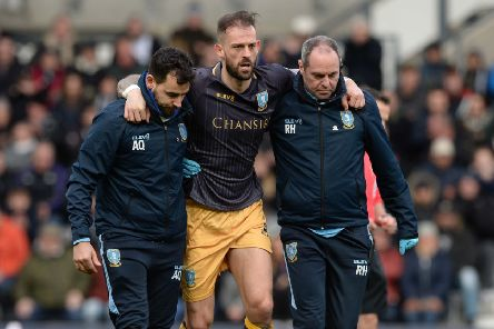 Sheffield Wednesday's Steven Fletcher is helped off after sustaining an injury earlier this month against Derby County (Picture: Steve Ellis).