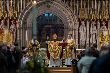 The Archbishop of York, pictured preaching at last year's Eucharist service at York Minster.