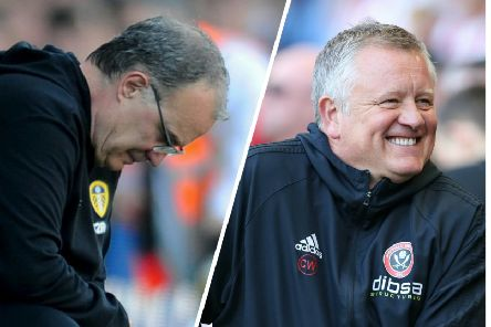 CONTRASTING FORTUNES: Marcelo Bielsa and Chris Wilder.