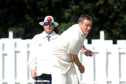 Burley bowler  Nick Brook, who took 6-39 against Collingham, but couldn't prevent defeat.