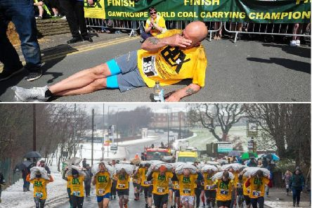 What a difference a year makes? This year's coal carrying championships took place in the hottest weather of the year so far while 2018's event only just went ahead as the country battled the Beast From The East.