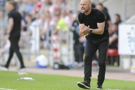 Manager Paul Warne urges on his side but Rotherham United fell to defeat after leading against Birmingham City. (Picture: Dean Atkins).