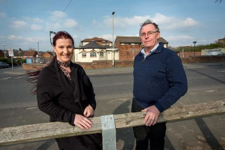 Steve and Christine Warren outside The Dalesman pub in Butcher Hill, Leeds, which is being renovated.