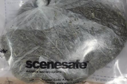 The man was found to have this large bag of drugs up his bottom.