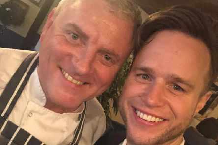 Chef Alistair with Olly Murs.