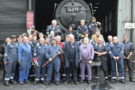 Chris Price, general manager and his staff at the NYMR.