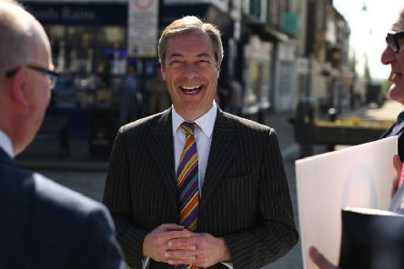 Brexit Party leader Nigel Farage was on the campaign trail in Pontefract this week.