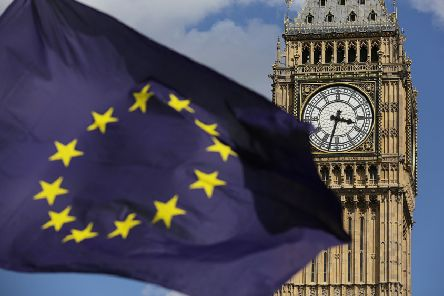 The Brexit leave-remain debate continues three years after the referendum. Photo: Daniel Leal-Olivas/PA Wire
