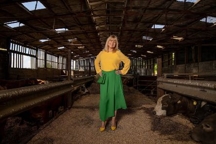 Christine Talbot wears yellow georgette top, �55, and midi skirt, �69, both by John Lewis & Partners. Picture by Charlotte Graham.