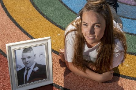 Hayley Carroll who started Samuel's Rainbows after the death of her brother