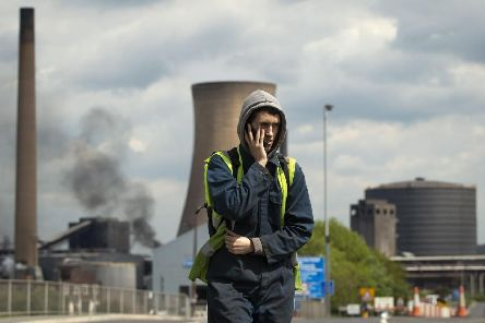 Workers leave the steelworks plant in Scunthorpe as owner British Steel goes into liquidation