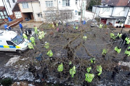 Operation Quito saw dozens of police officers sent out to support tree-felling operations in Sheffield in early 2018. Pic: Scott Merrylees.
