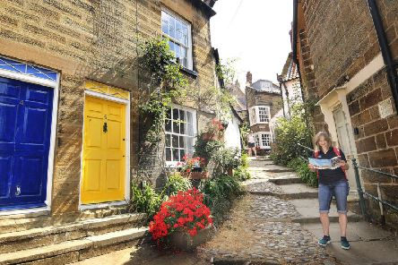 One of the old alleyways in Robin Hood's Bay once used by smugglers