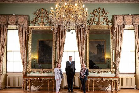 The tables and mirrors by Thomas Chippendale will remain at Harewood House. Picture Credit Charlotte Graham