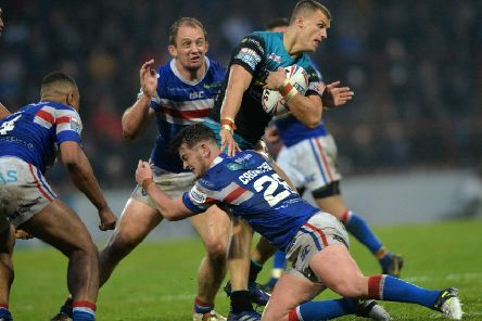 In the mire: Leeds Rhinos defeated Wakefield Trinity recently but recent losses for both clubs mean they are very much in the battle to beat the drop from a congested bottom half of Super League. (Picture: Bruce Rollinson)