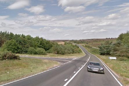 The A171 between Whitby and Scarborough, where a fatal collision occurred.