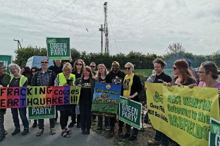 Green Party MEP Magid Magid joined protestors at the site recently