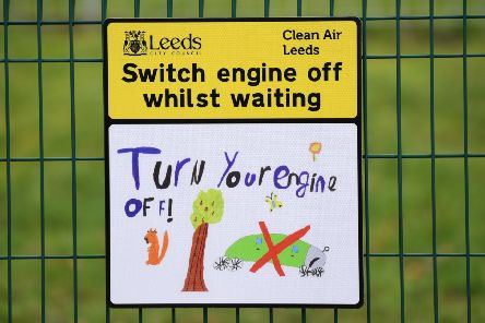 A sign outside Pool-in-Wharfedale CE Primary School.