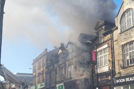 The major fire broke out in a building which sits between Station Parade and Beulah Street.