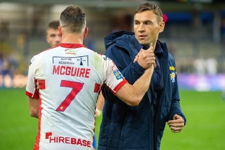 Caption competition: Danny McGuire and Kevin Sinfield at full time after Leeds Rhinos lost to Hull KR. (Picture: Bruce Rollinson)