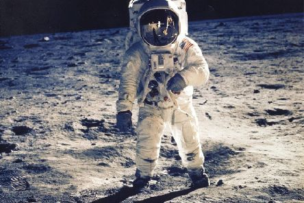Buzz Aldrin on the moon. Picture: NASA/Getty