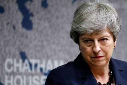 Prime Minister Theresa May delivers a speech in central London