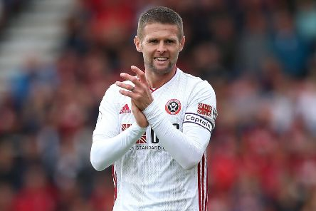 Honoured: Oliver Norwood wore the captain's armband for Sheffield United at Bournemouth (Pictures: sportimage)