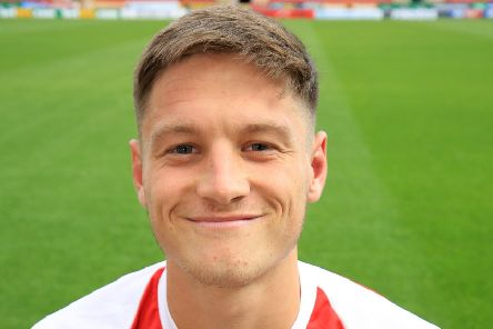 Rotherham United's Ben Wiles: His shot struck bar and went in off the goalkeeper.