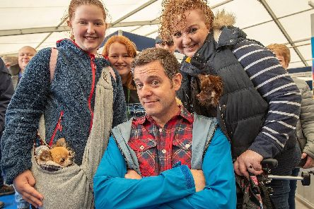 Countryfile presenter Matt Baker meets and greets fans, human and furry, at this weekend's live event. Picture Charlotte Graham.