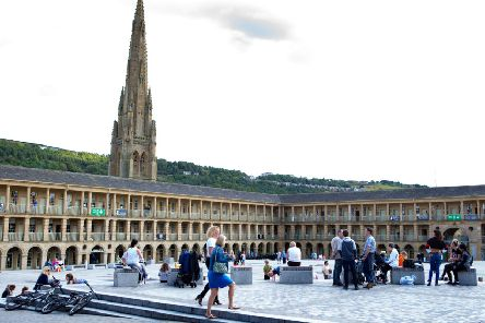 The Piece Hall in Halifax has helped transform the town after its renovation.