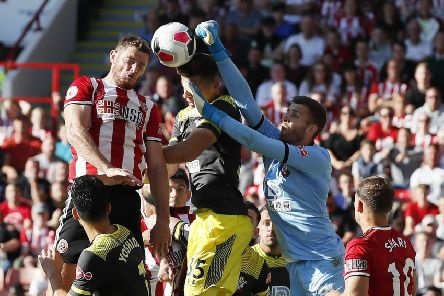 Jack O'Connell rises high for a header against Southampton (Picture: SportImage)
