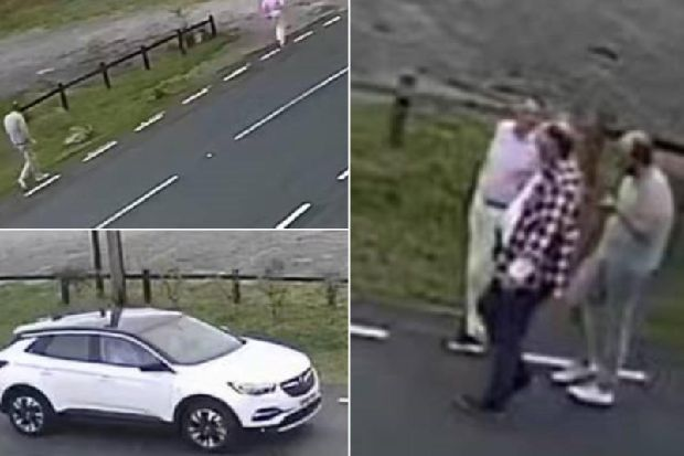 Police trying to trace these men in connection with dead body found in car on Scammonden Moor