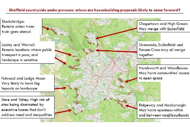 Campaigners release map of green areas under threat in Sheffield
