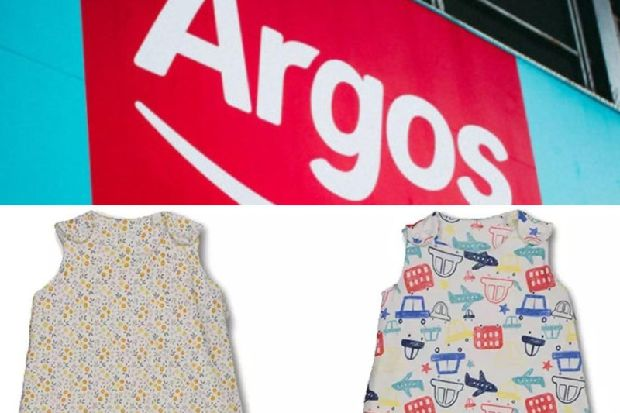 timeless design cfc31 839d4 Argos issues 'immediate' recall of sleepbags as they could ...