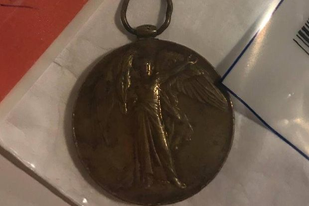 Can you help reunite this war medal with its rightful owner?