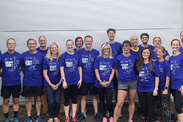 Wigan runners show their support for mammoth challenge