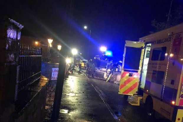 Bickershaw Lane reopens after car crashes into tree and overturns