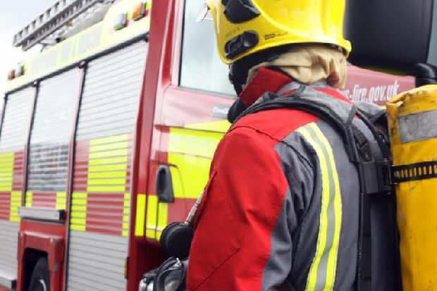 Van full of mattresses and white goods torched in fire outside Wigan community centre