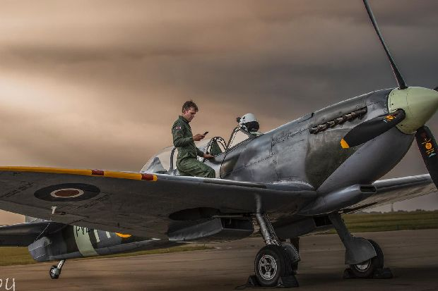 World War Two Spitfire leaves Leeds Bradford Airport after unplanned