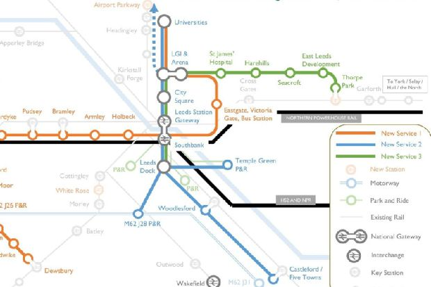 Tube-style map shows how a mass transit system for Leeds could look ...