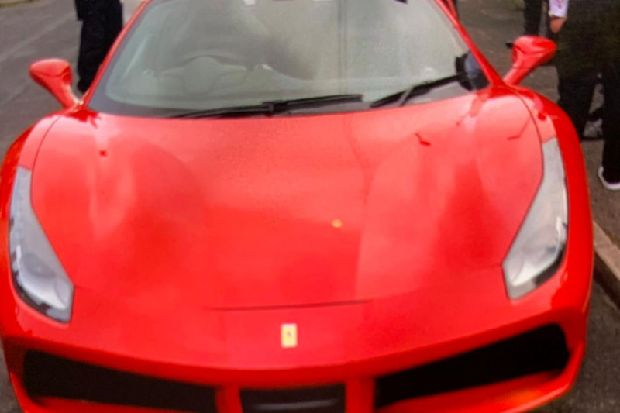 Ferrari super-car seized by police in Leeds and driver arrested for drink and drug driving