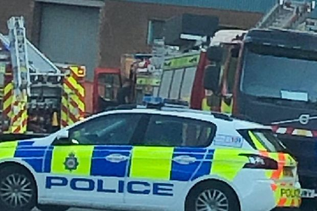 Beeston road blocked as all emergency services called to fire at building