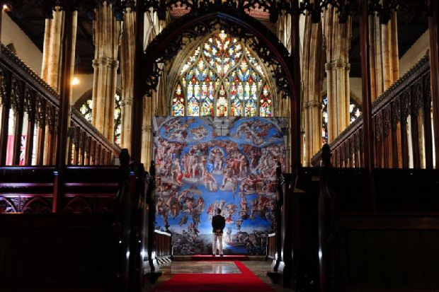Michelangelo's Sistine Chapel masterpieces go on show at Yorkshire church