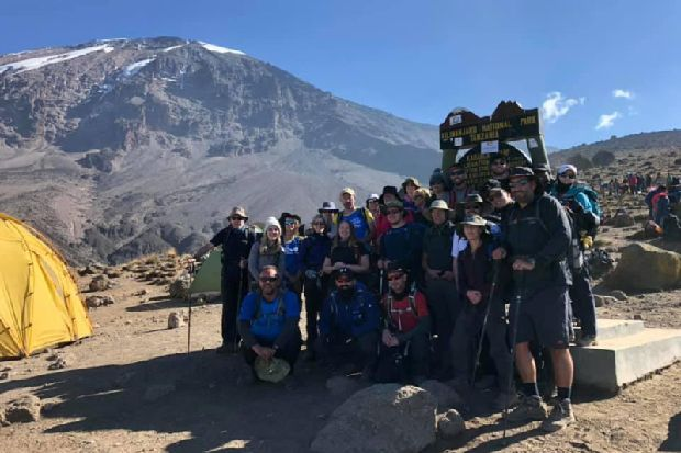 25-strong group of charity volunteers from across Yorkshire conquer Kilimanjaro for hospital