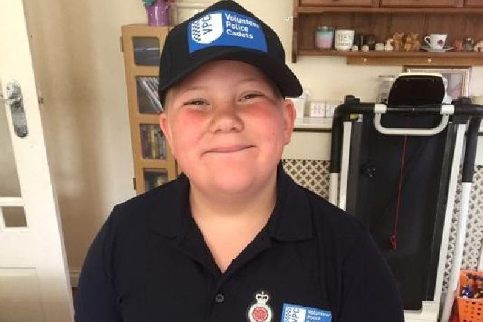 School pupil raises a smile with St Annes police officers