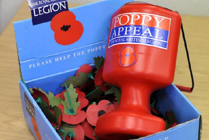 Thieves who stole poppy collection boxes and church donations in