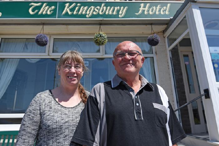Hoteliers Peter Shaw and Valerie Hodgkiss from The Kingsbury Hotel