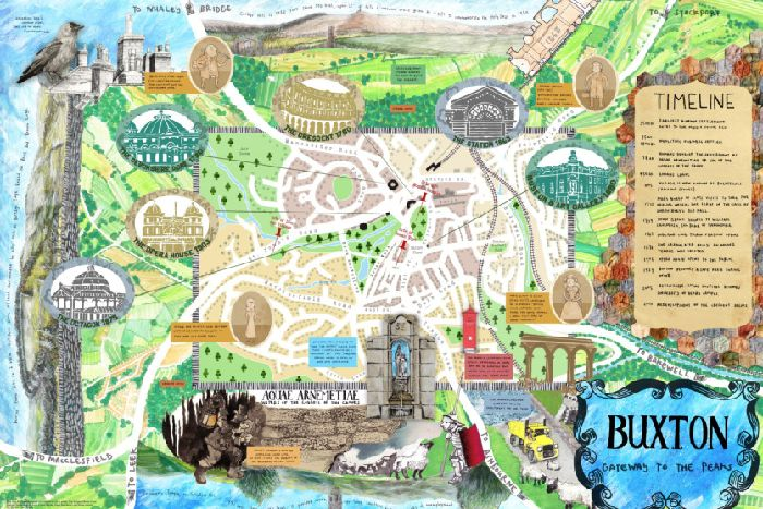 Map Of Buxton Town team releases illustrated map of Buxton   Buxton Advertiser