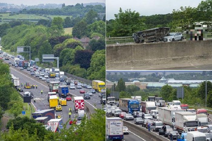 LIVE: M1 closed until 6pm after serious collision - traffic updates